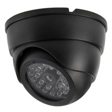 YobangSecurity Indoor Outdoor Dummy Fake Imitate Waterproof Dome CCTV Camera Surveillance with LED Flashing Light
