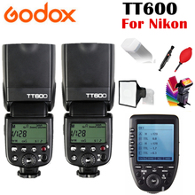 2x Godox TT600 TT600S GN60 2.4G Wireless TTL 1/8000s Flash Speedlite for Nikon D3200 D3300 D5300 D7200 D750 + Xpro-N Trigger