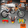 Customized Team Graphics & Backgrounds Decals 3M Stickers For KTM  SX SXF EXC XCF XC XCW EXCF MX ENDURO 125 250 300 450 525