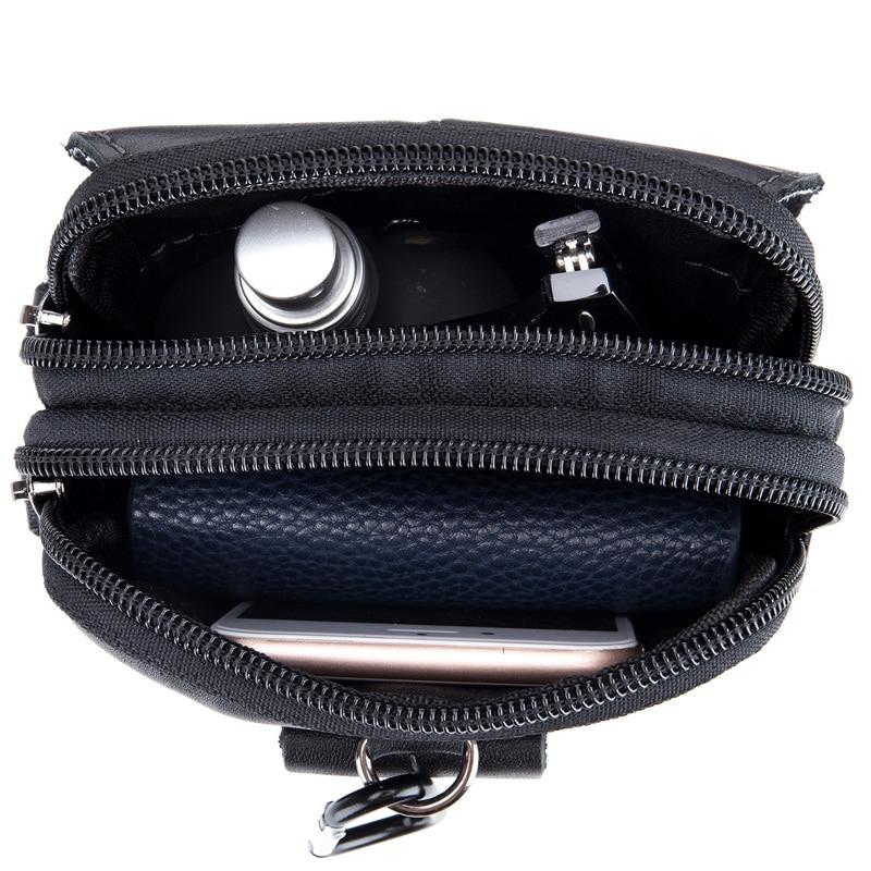 BULLCAPTAIN Fashion Mens Waist Packs Bag Äkta Läder Small Man Bag - Bälten väskor - Foto 6