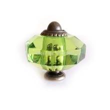 5 шт. зеленый кабинет ручка шкаф шкаф ящик комода ручка акриловый кристалл потяните 35 мм восемь угол в форме ручки