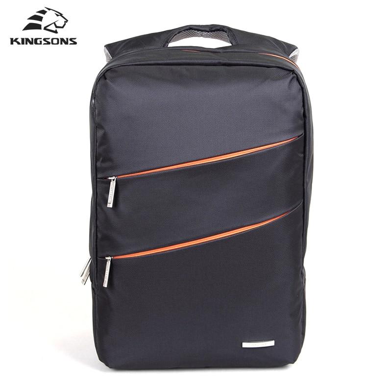 все цены на Kingsons Nylon Waterproof Backpack Business Bag For Men Laptop Backpack Zipper Satchel New School Bag Rucksack Mochila Escolar онлайн