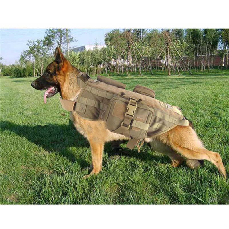 الجيش التكتيكية الكلب سترات العسكرية الكلب الملابس التدريب تحمل الحمل تسخير SWAT الكلب التدريب الإنقاذ مول سترة تسخير XS-XL
