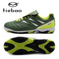 TIEBAO Professional Brand Soccer Cleats Botas De Futbol Football Shoes Kids Children TF Turf Soles Soccer