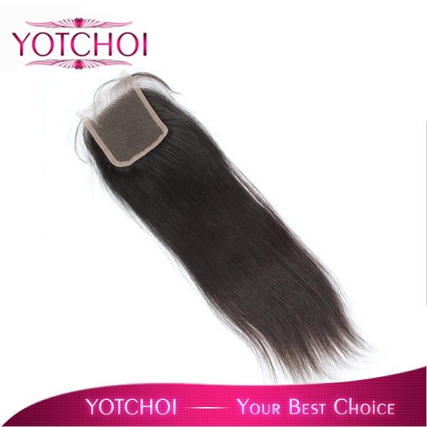 """Yotchoi закрытия шнурка 3.5 """"x 4"""" бразильские волосы девственницы топ кружева закрытие 8 """"-18"""" полный шнурок 100% ручной работы бесплатный часть закрытие 1B #"""