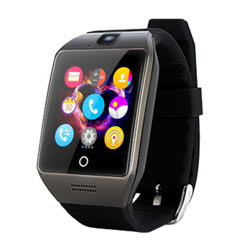 Q18S NFC Bluetooth Smart Watch With Camera Facebook Sync SMS Smartwatch Support SIM TF For IOS