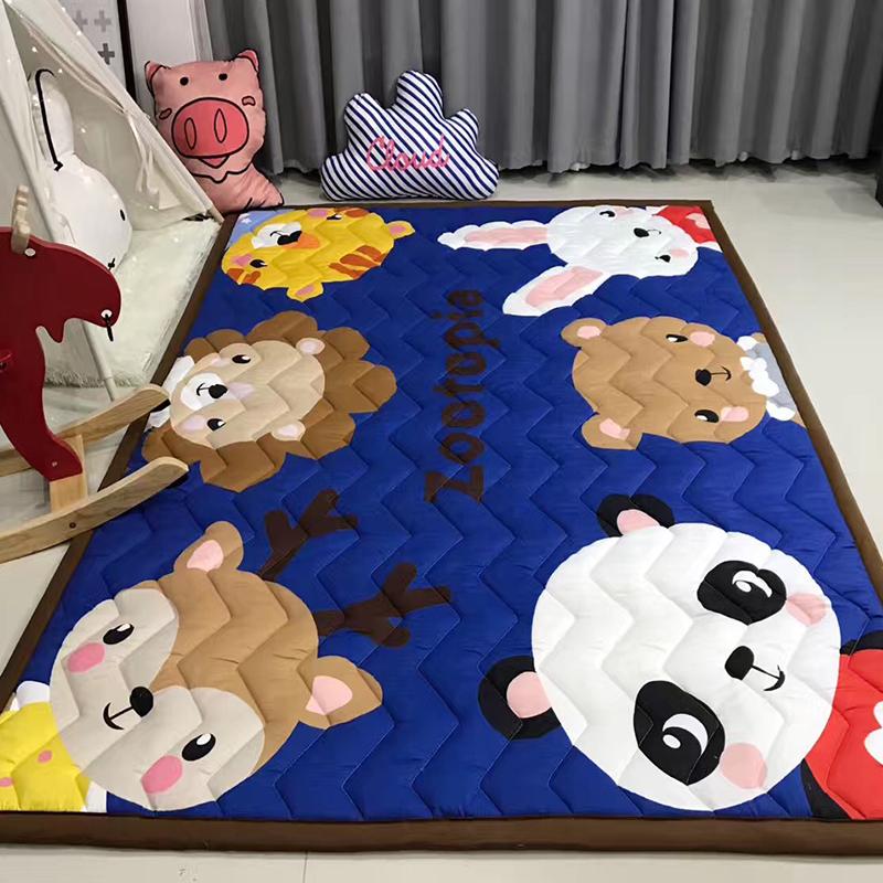 Kids Room Decorative Floor Carpet 145*195cm Baby Play Mat Children's Mat Kids Rug Playmats Thick Baby Nursery Pads Crawling Mat