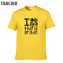TARCHIA 2016 new arrive funny i love third grade cotton tops tees men short sleeve boy casual homme tshirt t plus free shipping