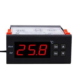 Image 1 - מיני דיגיטלי אקווריום טמפרטורת בקר עם חיישן מדחום מקפיא תרמוסטט רגולטור 220V
