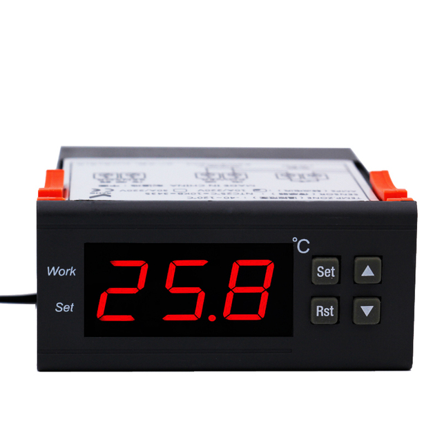 Mini Digital Aquarium temperature controller with Sensor  thermometer freezer thermostat regulator 220V