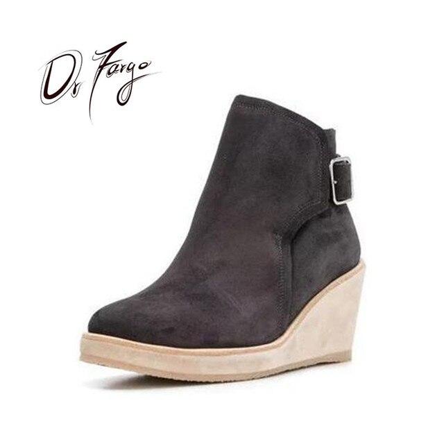 34 2018 Cuñas Más 43 Tamaño Imitación Gamuza Plataforma Tobillo La Drfargo Zapatos Gran Gota Moda Envío Mujer Botas De BWrdCxoe
