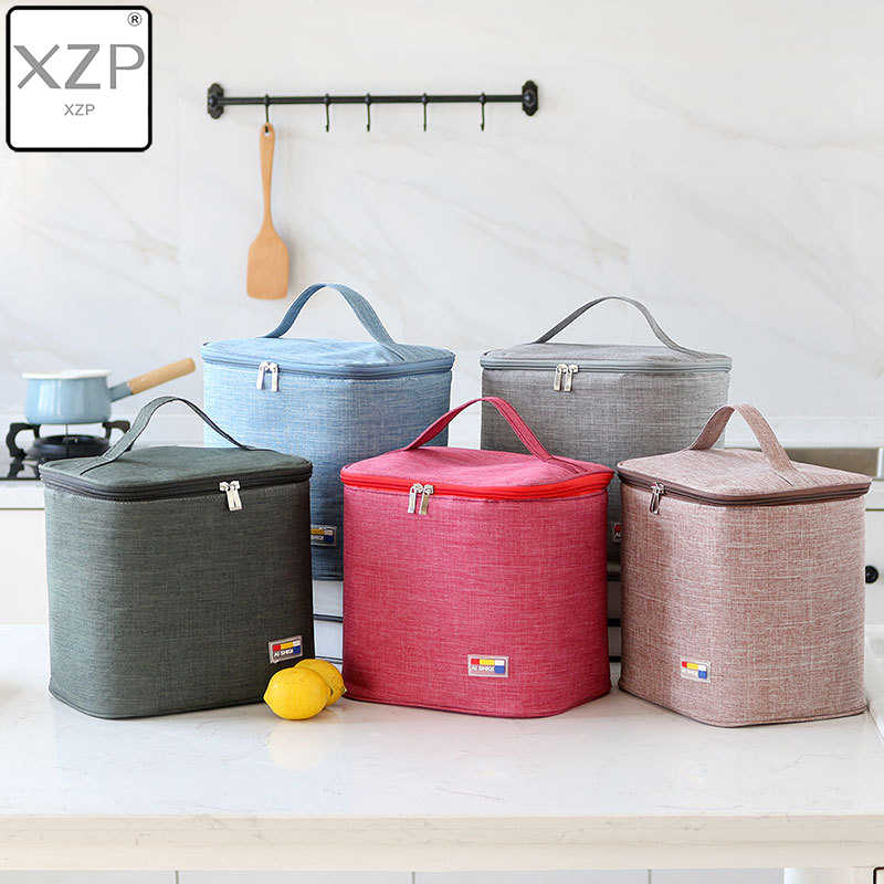 XZP Waterproof Insulated Lunch Bags Oxford Travel Necessary Picnic Pouch Unisex Thermal Dinner Box Food Case Accessories