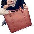 2017 New Simple Women Bag Fashion Casual Handbags Large Capacity PU Leather Messenger Shoulder Bag 35*31*8cm YA0423