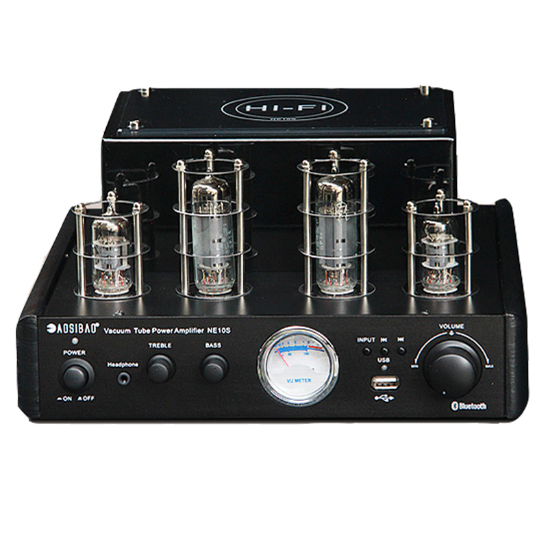 new NE10S 6P1 + 6F1 tube Bluetooth 4.0 USB BT AUX AC 220V 2.0 channel 40W + 40W high power HiFi audio vacuum Tube amplifier fanmusic 6p1 usb decoder tube amplifier