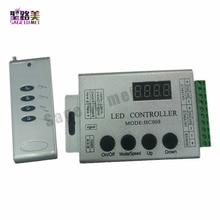 DC12V 5 24V 4Keys HC008 programmable rgb led pixel controller RF control 2048 pixels 133 effect