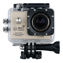 Top Deals Mini 2″ 14MP 1080P WiFi Full HD Waterproof Action Cam DV Sport Helm Camera Gold