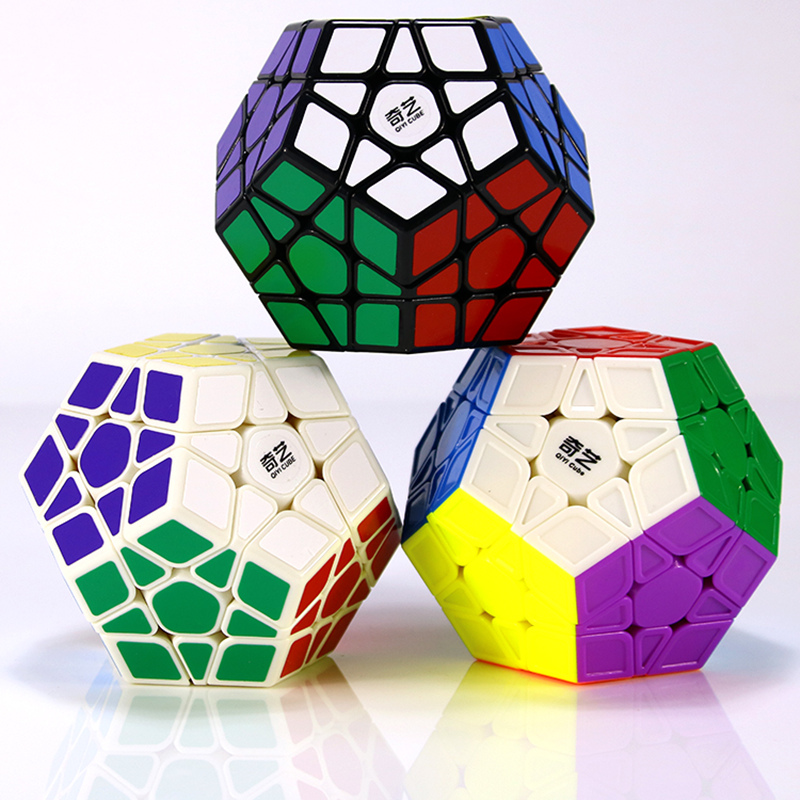 Original QIYI  Speed Cube 12-sides Stickerless /sticker professional Puzzle learning education toy for children