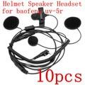 10pcs NEW helmet Racing Headset Speaker Microphone with Handle bar PTT for Baofeng  UV5R UV5RA UV5RB UV5RC UV5RD UV5RE 888S