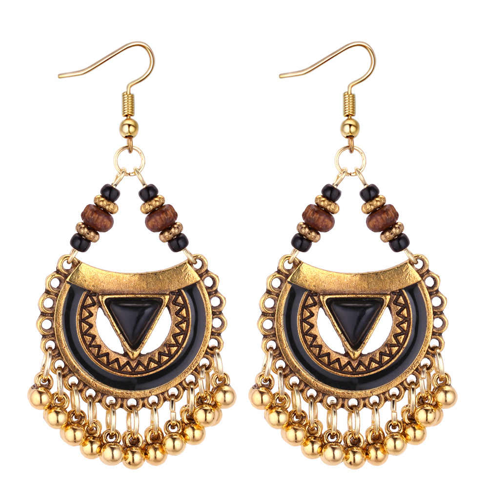 Ethnic Hollow Out Vintage Tasselr Dangle Earrings for Women 4 Color Bohemia Style  Earring Indian Jewelry dd1016f1911e