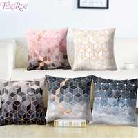 FENGRISE Polyester Texture Cushion Geometric Pillow Decorative Cushion for Sofa Printed Throw Pillow Seat Chair Cushion 45x45cm