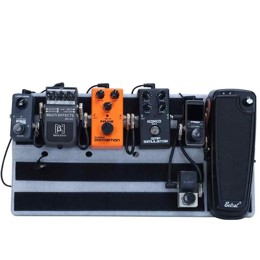 Flanger качество гитарных эффектов Pedalboard одна доска включает Монтажная лента крюк и петля прочные аксессуары для гитары 50x25 см