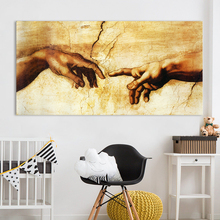 A Meaningful Work of Art Touch of Fingertips Canvas Painting Pictures for Home Living Decoration цена 2017
