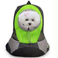 Собак Pet Carrier Рюкзак модные сетчатые нейлон Портативный спереди дорожная сумка для собак рюкзак голову Двойной плечевой открытый pet carrier