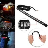 2Pcs Lot Universal 12V LED Motorcycle Light Strip Tail Brake Stop Turn Signal Flexible 32Leds Light