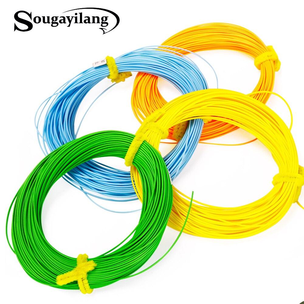 Sougayilang 4F 5F 6F 7F 8F Fly Linie 100FT Gewicht Vorwärts Nymph Schwimm Fly Angelschnur 4 Farben Polyethylen Fly angelschnur