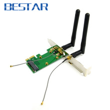 pci-e Mini PCI-E pcie pci express to pcie PCI-E Express Wireless adapter Card with Dual Antennas Network Internet Computer WiFi
