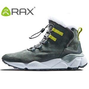 Image 3 - RAX גברים של נעלי הליכה האחרון Snowboot אנטי להחליק בטנת קטיפה אמצע גבוהה קלאסי סגנון הליכה עבור מקצועי גברים