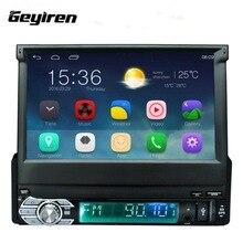 Car Radio Media Multimedia Player Full Retractable Screen MP5 /MP4 / MP3 GPS Navigation Rearview camera Mirror Link