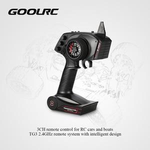 Image 2 - オリジナル goolrc デジタルラジオリモコン送信機と受信機の rc カーボート TG3 3CH 2.4 2.4ghz の rc 部品アクセサリー