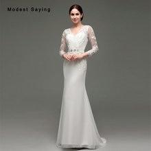 modest saying Elegant Long Sleeve Wedding Dresses 2017