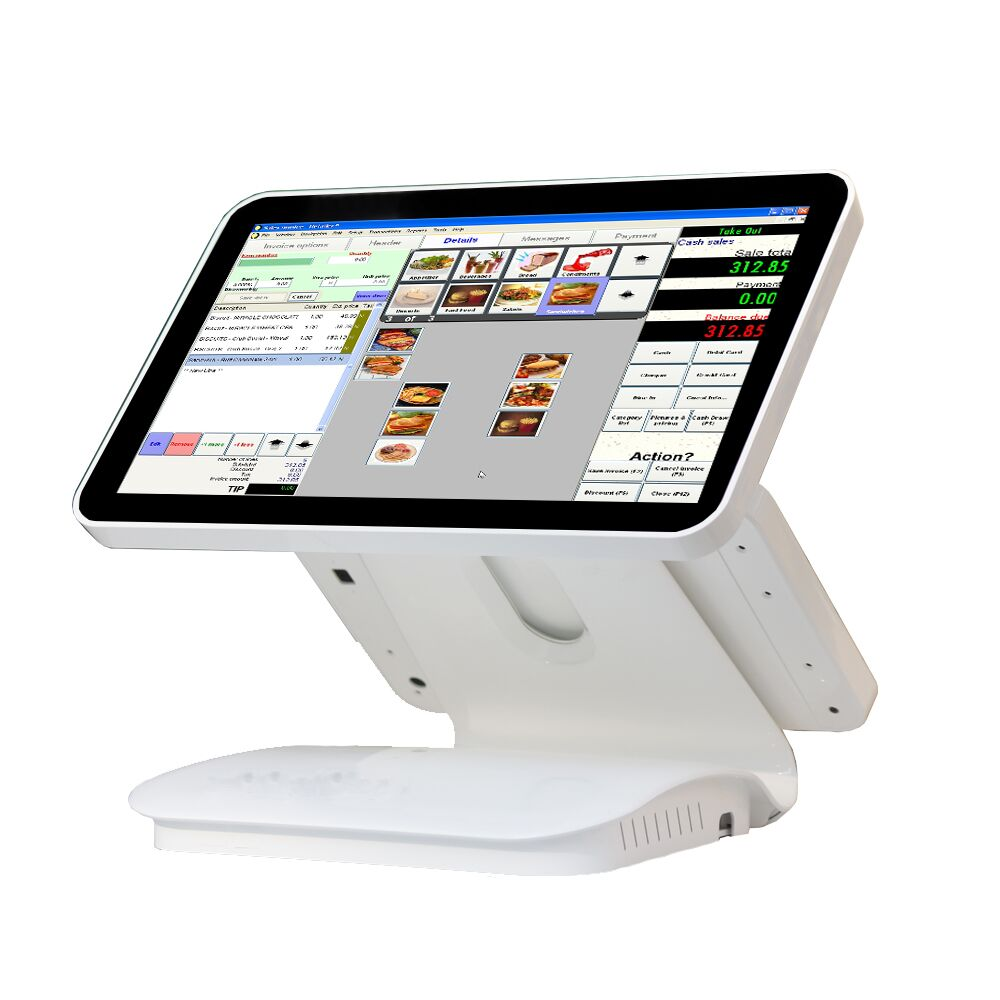 15.6 inch dual capacitive touch screen // cash register //touch pos machine for retail linux pos1519D