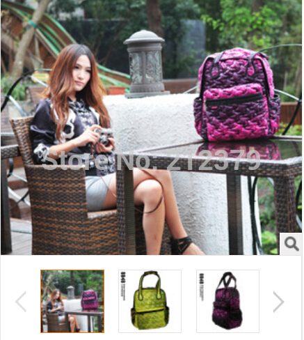 new computer 14 15 inches Bags women s bag female plaid down bag Pineapple double shoulder