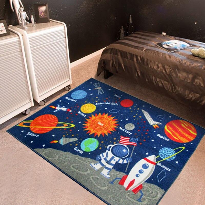 Tapis de jeu pour bébé nouveau-né enfant tapis rampant sûr, Non toxique et facile à laver tapis de couverture Rectangle éducatif