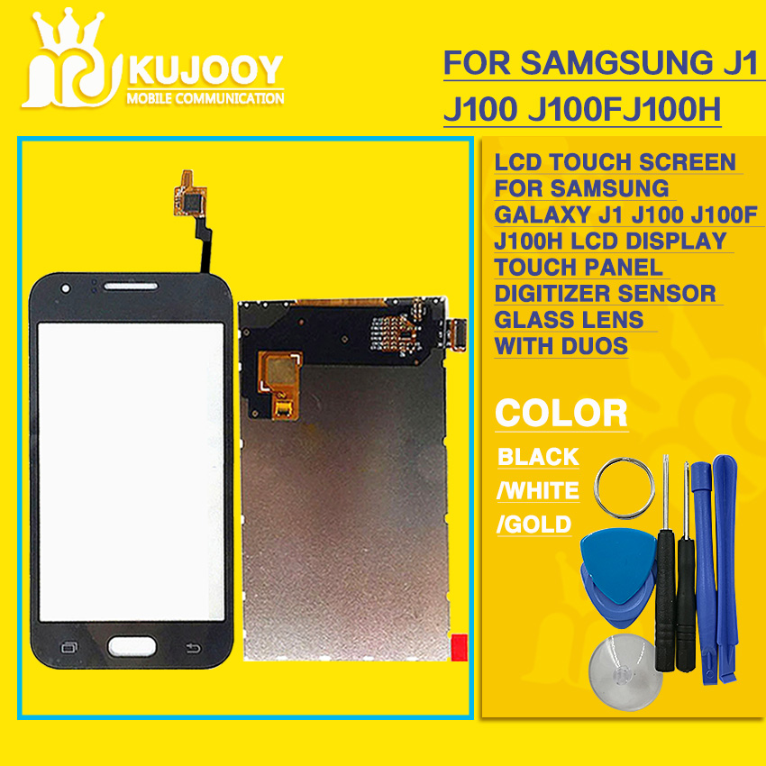 LCD Touch Screen For Samsung Galaxy J1 J100 J100F J100H LCD Display Touch Panel Digitizer Sensor Glass Lens With Tools With Duos