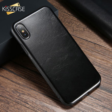 hot deal buy kisscase leather phone case for iphone x xs case for iphone 8 7 6 plus luxury business leather cover capinhas coque for iphone 7