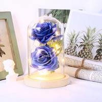 LED Beauty Rose Beast Battery Powered Red Flower String Light Desk Lamp Romantic Birthday Holiday Girls Mother Gifts Home Decor