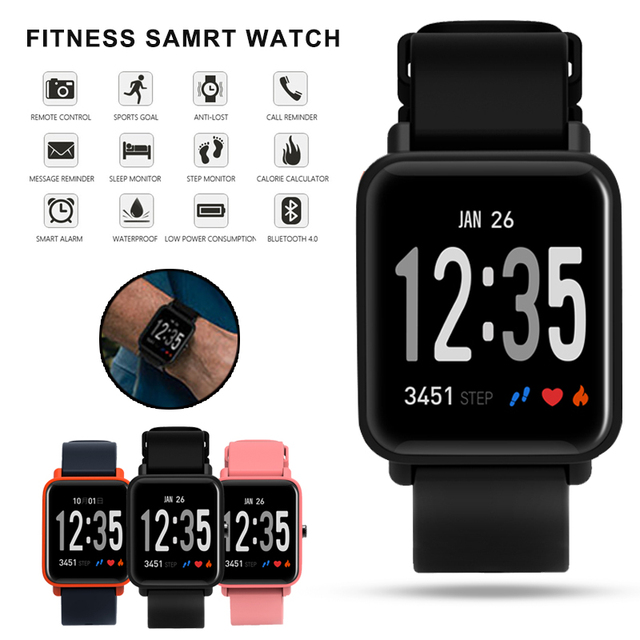 Cheap DO10 Smart Watch Fitness Tracker Clock Heart Rate Pressure Monitor Smartwatch Men Women PK For XIAOMI HUAMI IOS Android