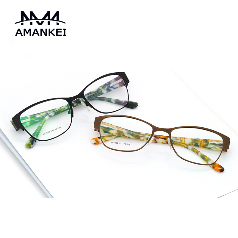 latest printed eyewear vintage silver metal eyeglasses online female eyeglasses frames custom optical glasses frame for women