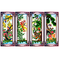 SHANSHIYOUPIN Diamond Mosaic 5D DIY Diamond Painting Cross Stitch Kids Plum Orchid Bamboo Pine Diamond Embroidery