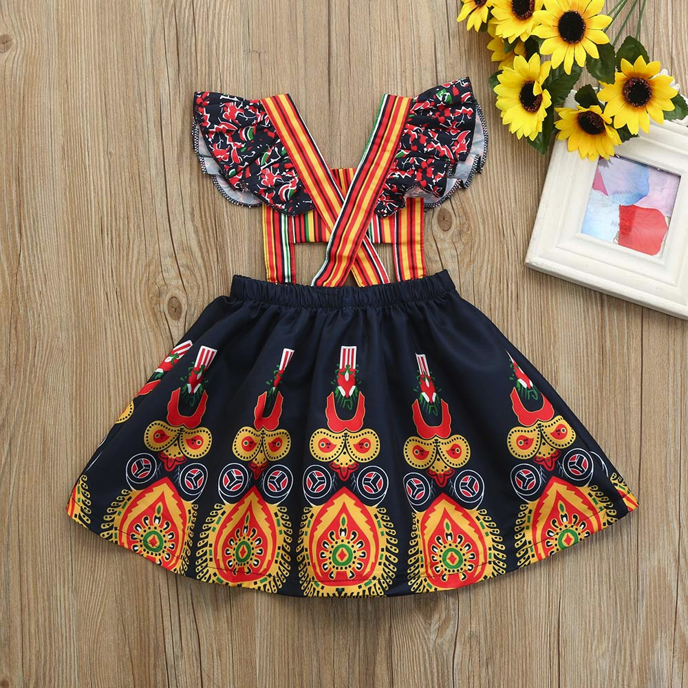 Kids Baby Girls Princess Dress Casual Party Pageant Boho Floral Dresses Skirts