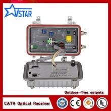 Catv открытый волоконно-оптический узел 2 выхода оптический приемник AGC