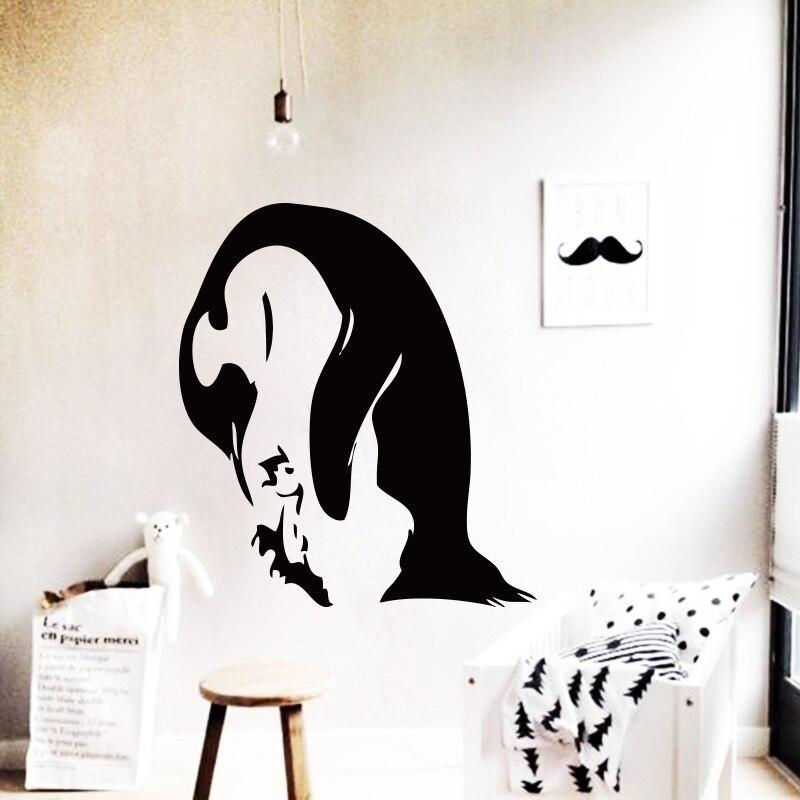 Art Design Cheap Home Decoration Pvc Penguin Wall Sticker Cartoon Vinyl House Decor Animal Bird Decals