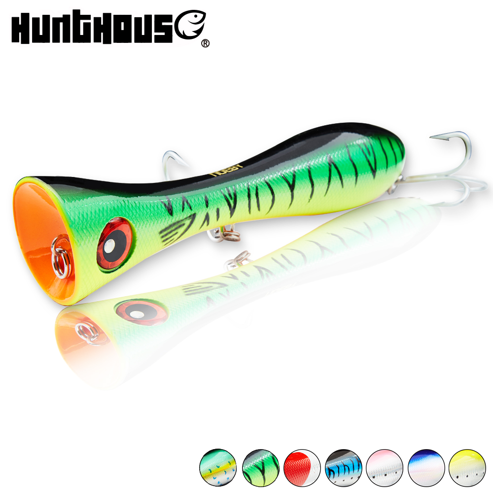 Noeby fishing lure bait 205mm 130g big popper hard lure for fishing bass fishing tackle with red lip and VMC hook