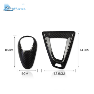Image 5 - Airspeed Carbon Fiber Gear Knob Cover for BMW M2 F87 M3 F80 M4 F82 F83 M5 F10 F85 X5M F86 X6M F12 F13 Accessories Car Styling