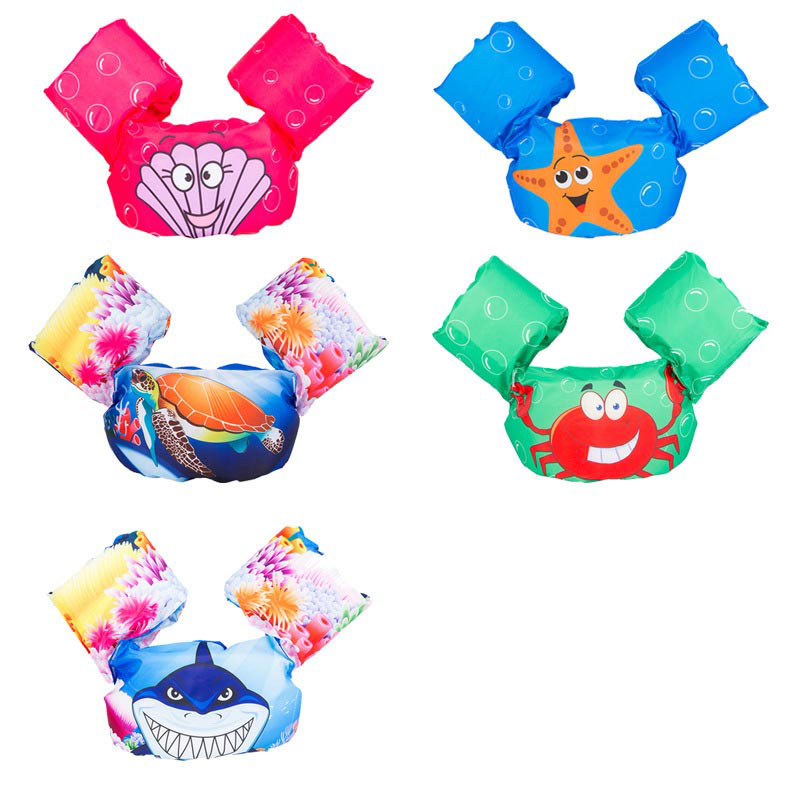Kids Swimming Equipment Cartoon Arm Float With Belt Swimming Training Inflatable Ring 10-30kg Baby Swimming Pool Accessories