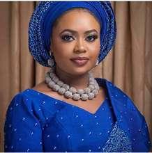 فريد العقلية النيجيري الزفاف الخرز طقم مجوهرات الزفاف الأفريقي الزفاف بيان قلادة مجموعة QW1188